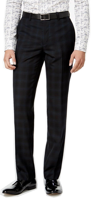 Bar III Mens Blackwatch Casual Trousers