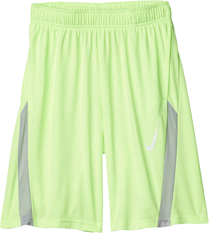 Nike Kids Boy's Core Training Shorts (Big Kids) Ghost Green/Light Smoke Grey/White LG (14-16 Big Kids)