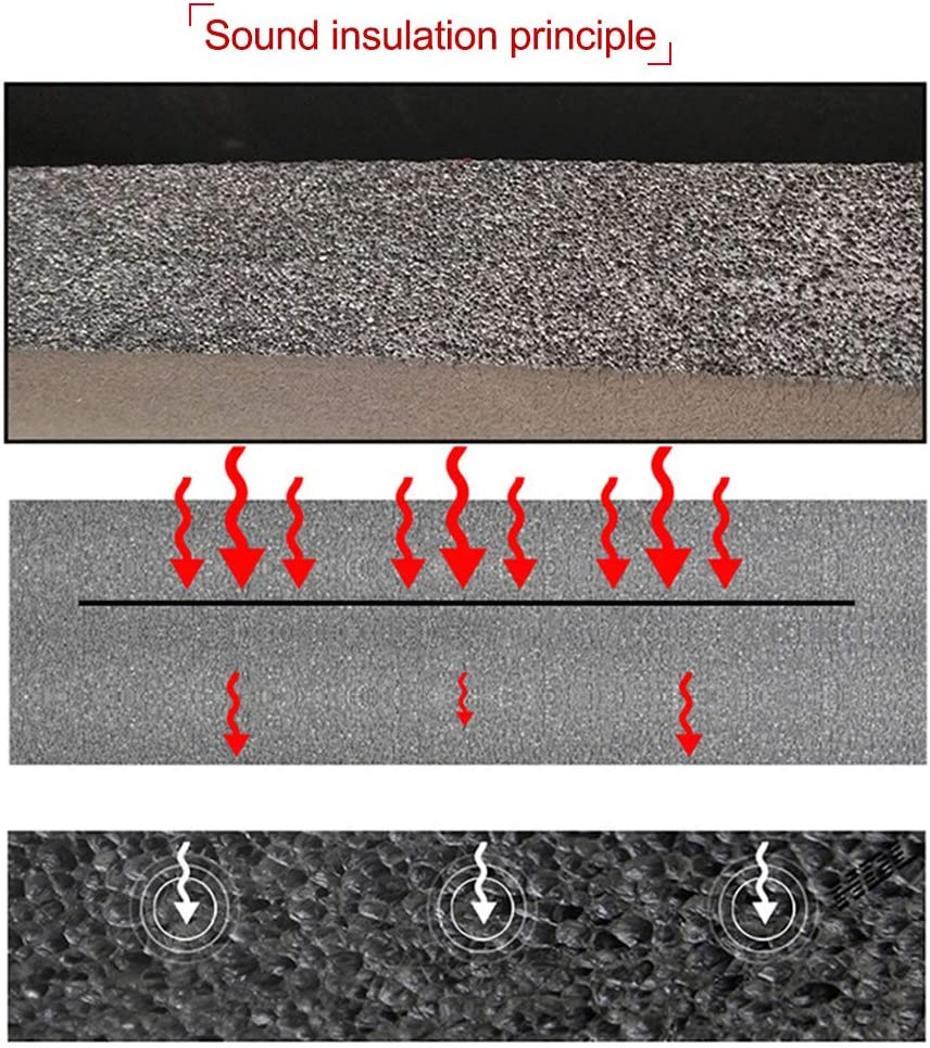 Carrfan Sound Deadening Mat Car Firewall Sound Deadener Heat Shield Insulation Audio Noise Insulator Deadening Pad 7mm 500x1000mm