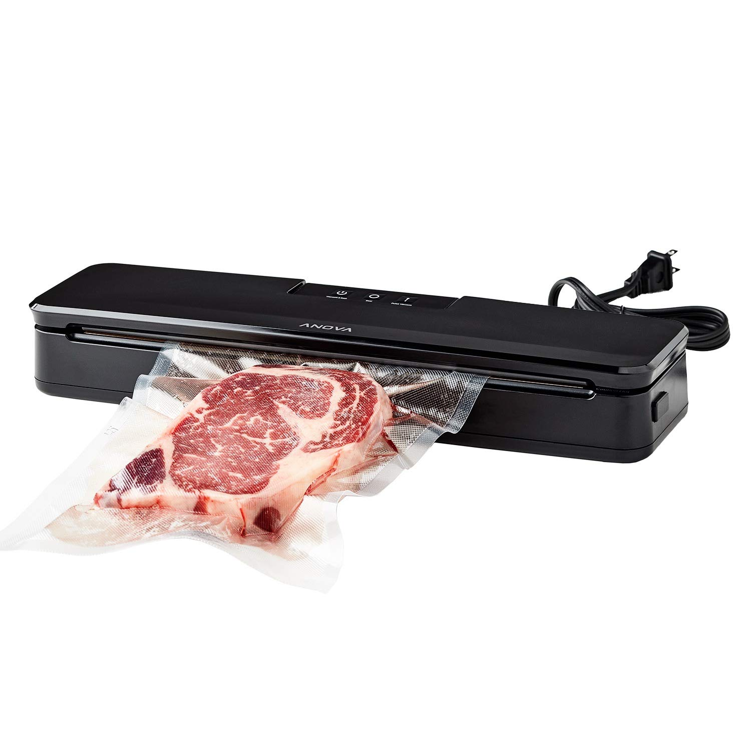 Anova Culinary ANVS01-US00 Anova Precision Vacuum Sealer, Includes 10 Precut Bags, For Sous Vide and Food Storage by Anova Culinary