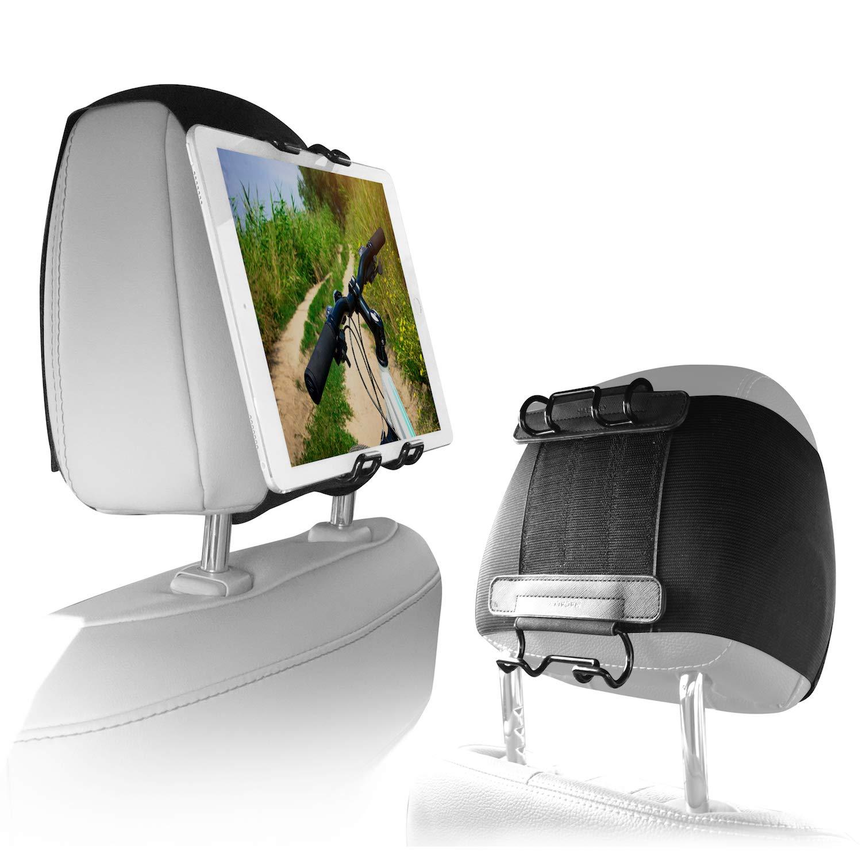 【新作入荷!!】 Macally Macally タブレット車ヘッドレストマウントホルダー 子供用 後部座席用 調節可能なストラップ 10.5などに ほとんどのヘッドレストにフィット 5-11インチのスクリーンのタブレットにユニバーサルフィット Apple 後部座席用 iPad Mini/Air/Pro 9.7 10.5などに B07NHHZNHH, みつあみ:9f991484 --- senas.4x4.lt