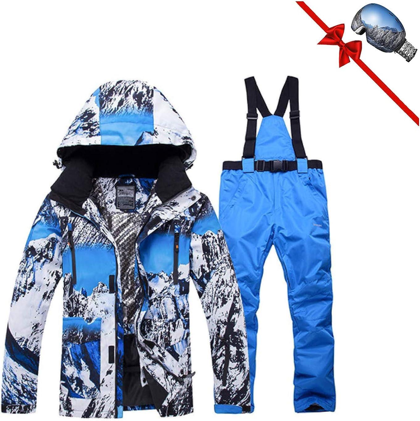 Ski Suit Men New XR Windproof Waterproof Thicken Male Clothes Coat Trousers Pants Winter Ski Snowboard Jacket