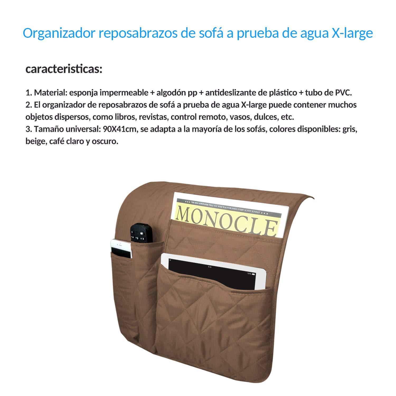 revistas Mando a Distancia Newmeil Libro Soporte Organizador para tel/éfono TV Reposabrazos Impermeable para sof/á Silla