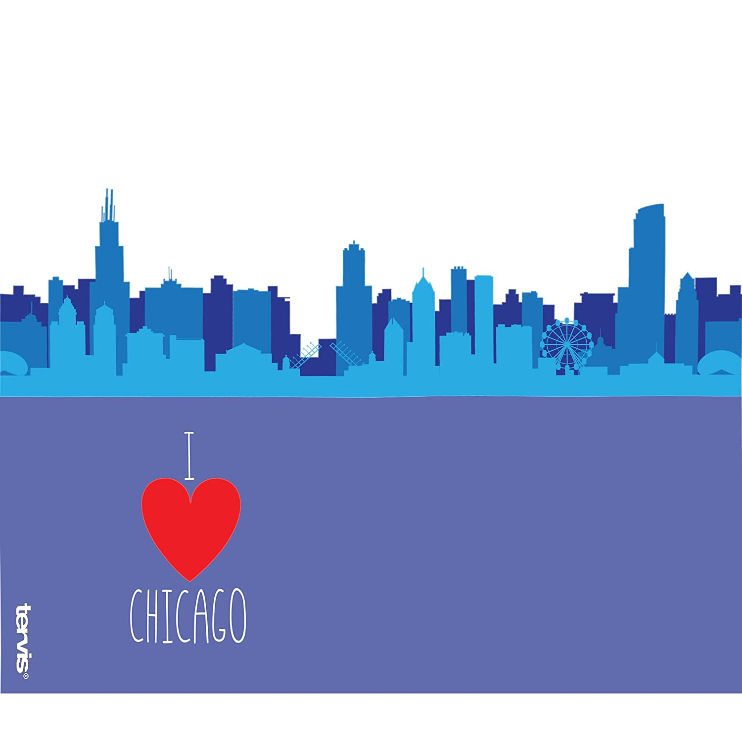 I Heart Chicago Skyline Tumbler with Wrap and Red with Gray Lid 24oz Water Bottle Tervis 1236667 Illinois Clear