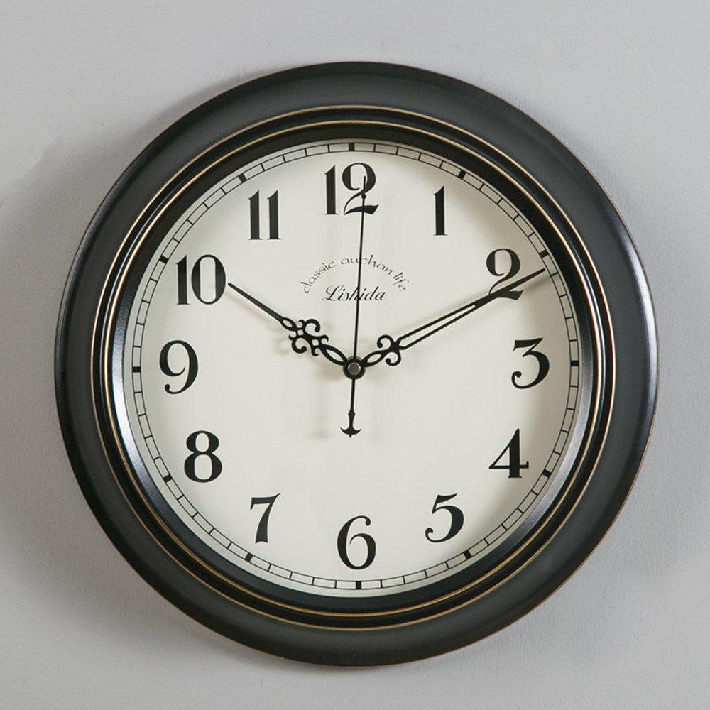 Ustideシンプル壁掛け時計イングランドウォールクロック 円型静音 直径22cm B06ZY69X4B 22cm|ホワイト ホワイト 22cm