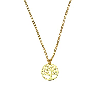 Amazon tree necklace dainty tree of life pendant family tree amazon tree necklace dainty tree of life pendant family tree necklace little tree gold jewelry aloadofball Gallery