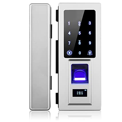 No DrillSecurity Biometric Fingerprint Door Lock for Glass DoorPassword Door Lock with  sc 1 st  Amazon.com & Amazon.com : No Drill Security Biometric Fingerprint Door Lock for ...