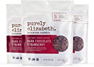 purely elizabeth Dark Chocolate Strawberry Superfood Granola, 8 oz, 3Count