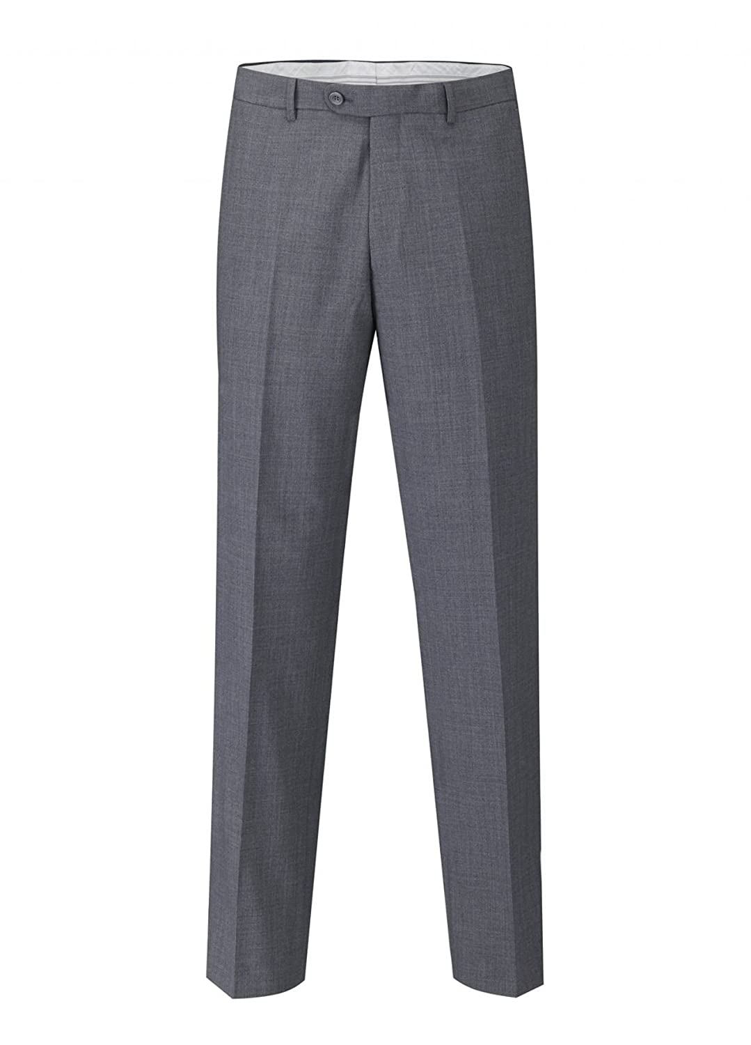 SKOPES WOOL RICH OTIS GREY SUIT TROUSER IN WAIST SIZE 30 TO 60