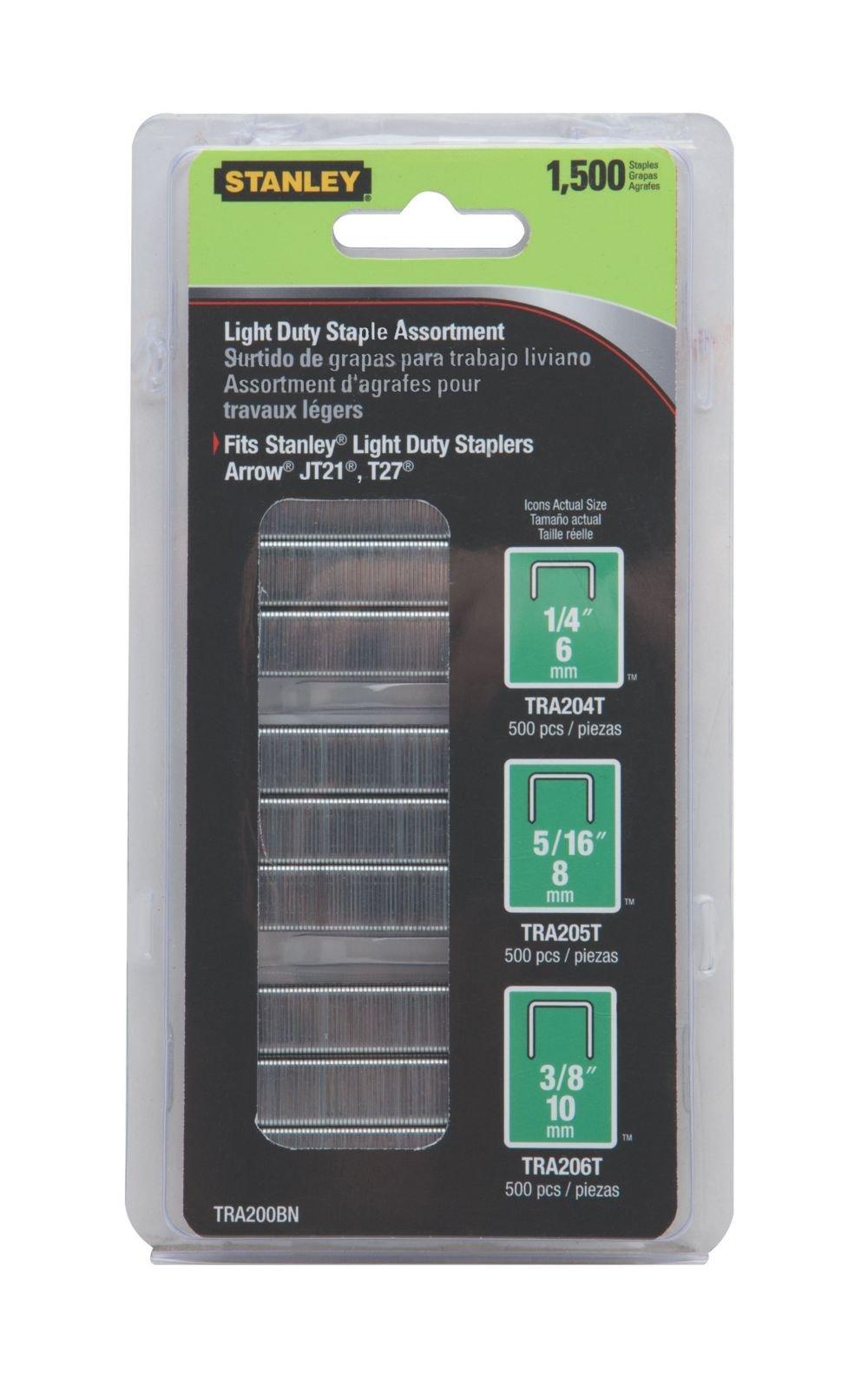 Stanley Tools TRA200BN 2 Pack 29/64 Light Duty Staple 1,500/Box
