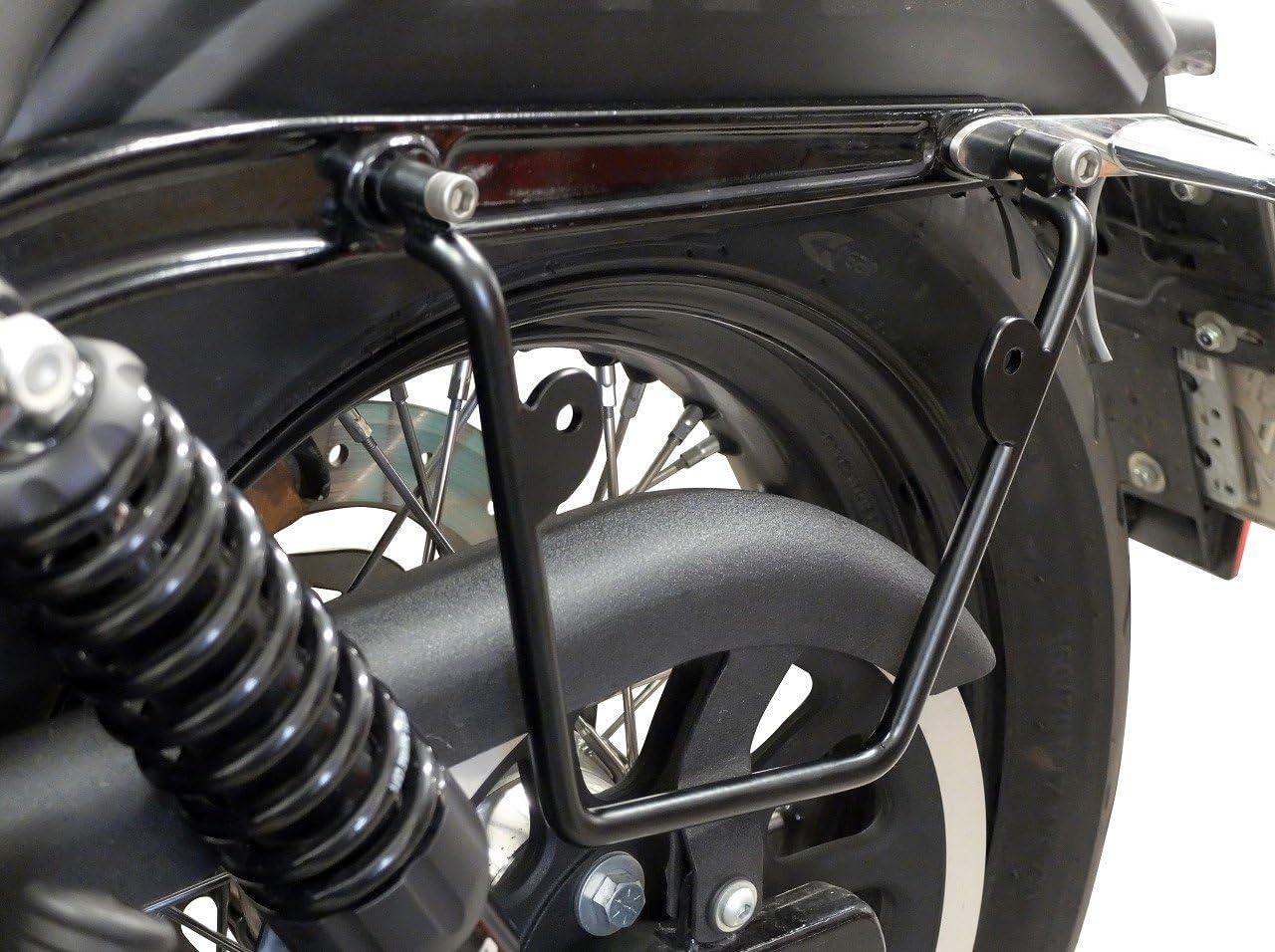 BUFFALO BAG Satteltaschenhalter links und rechts passend kompatibel mit Harley-Davidson Dyna Fat Bob 2008-2017