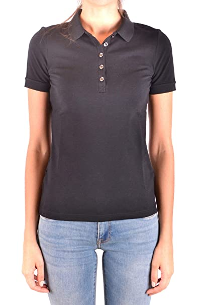 730b923bd9578 BURBERRY Luxury Fashion Womens Polo Shirt Spring Black at Amazon ...