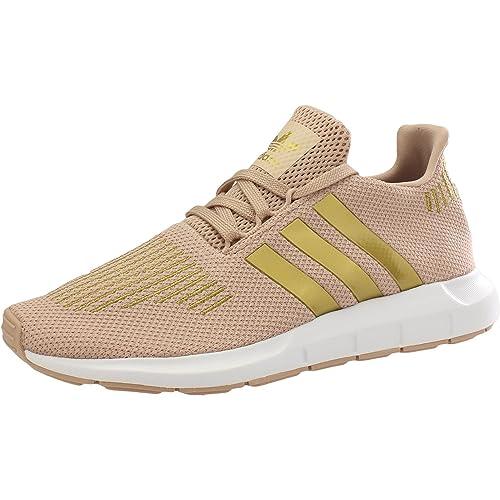 adidas Swift Run J, Zapatillas Altas Unisex Niños, Hueso (Ash Pearl S18/gold Met./FTWR White), 36 EU: Amazon.es: Zapatos y complementos