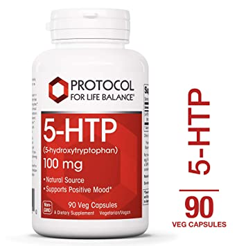 Protocol For Life Balance - 5-HTP (5-hydroxytryptophan) 100 mg - Supports Positive Mood,...
