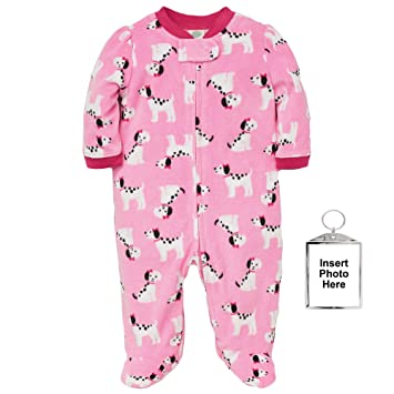 4088b42cf Amazon.com  Little Me Winter Fleece Baby Pajamas Footed Blanket ...