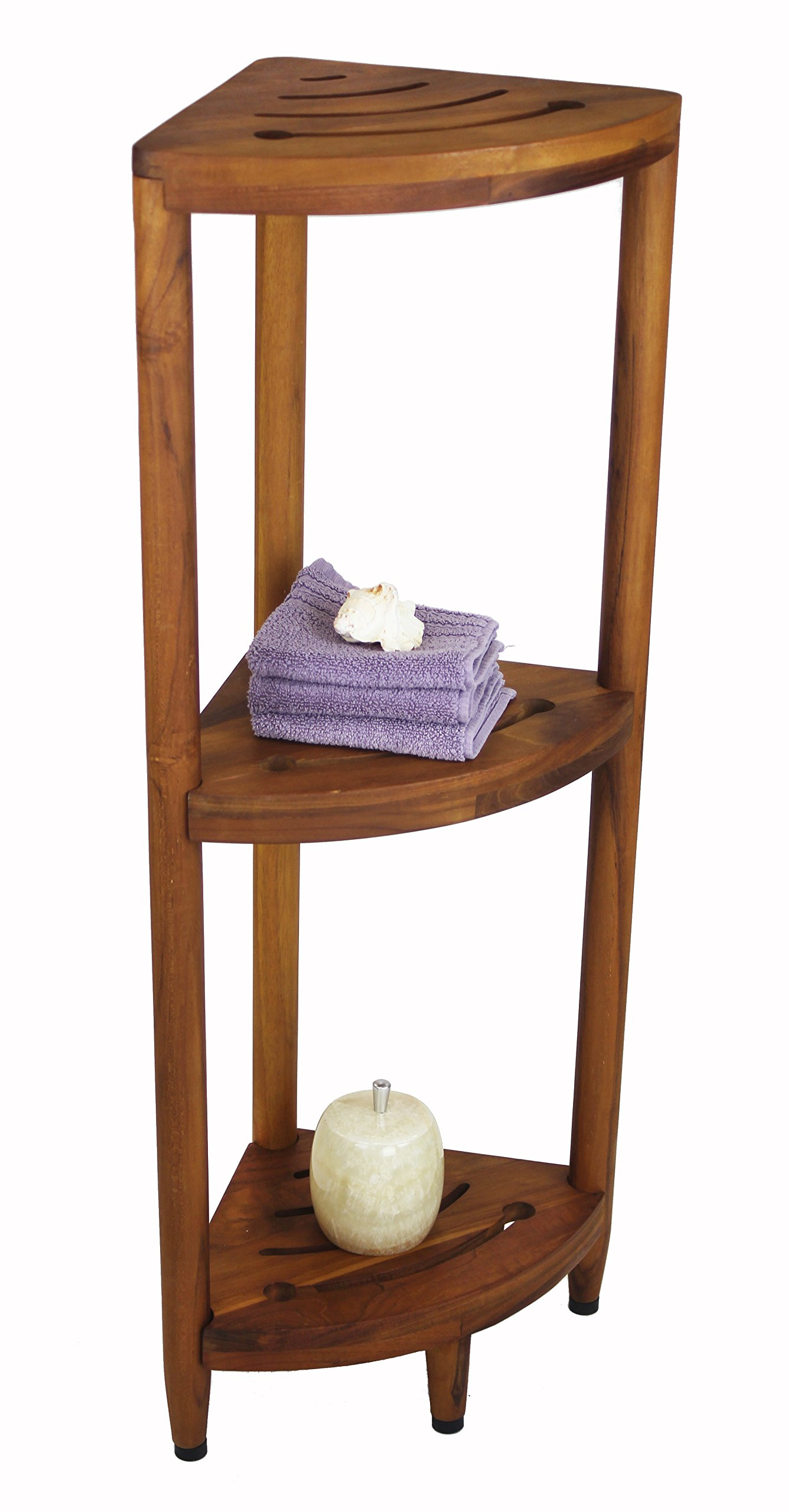 Amazon Com The Original Spa 30 Quot Teak Shower Bench With Shelf Home Improvement