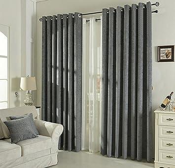 pure color opaco doble cara felpilla cortinas con anillas cortinas para saln o dormitorio cortinas modernas para salon