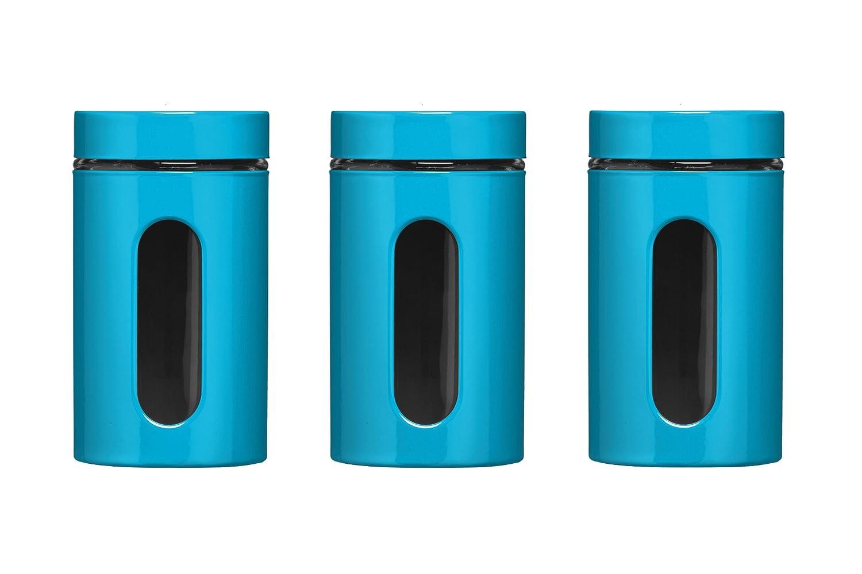 premier housewares storage canisters blue set of 3 amazon co