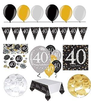 Feste Feiern Geburtstagsdeko Zum 40 Geburtstag 31 Teile All In One