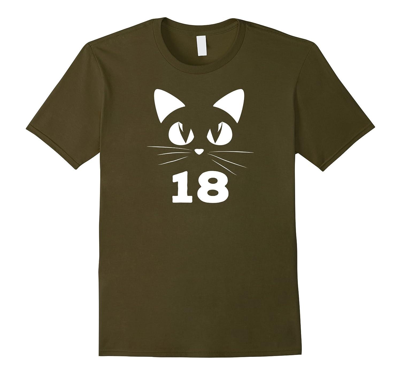 18th Birthday Cat Lover Novelty Shirt-RT