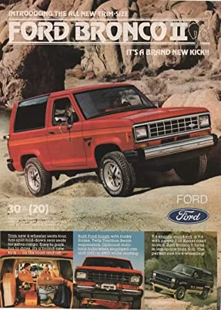 Ford Bronco 2 >> Magazine Print Ad Red 1983 Ford Bronco Ii 2wd 4wd V 6
