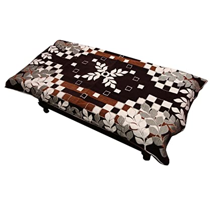 Kuber Industries Cotton Center Table Cover for 4 Seater- Maroon