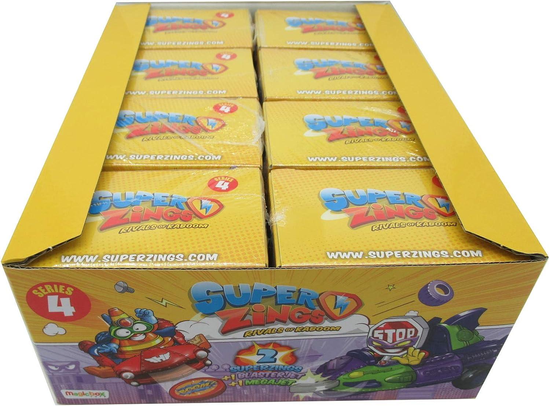 Magicbox - SUPERZINGS Serie 4 Conjunto Completo 8 Dual Box 16 Figuras 8 Blasterjet + 8 Megajet Original Super Zings: Amazon.es: Juguetes y juegos