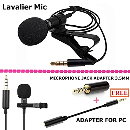 Amazon.com: Lavalier Microphone, Professional Lapel Mic - Omnidirectional Condenser Mic for Apple iPhone Android & Windows Smartphones,Youtube, Interview, ...