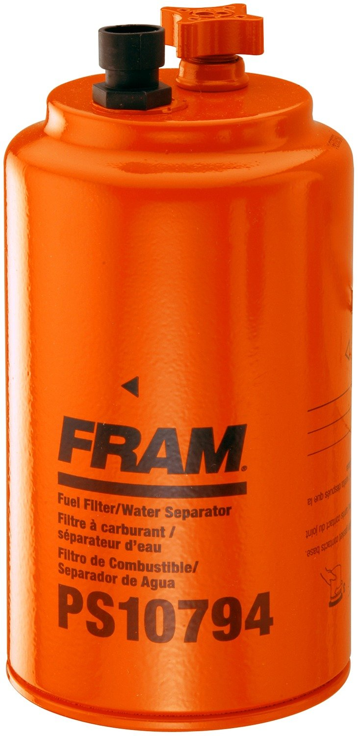FRAM PS10794 HD Spin-On Fuel/Water Separator Filter with Drain and Water-In-Fuel Sensor Port