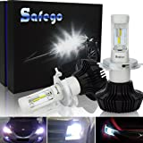 H4 LED Car Headlight Bulbs Kit - Safego 8000lm Hi/Lo LED Bulbs Philips Chip HB2 9003 High Low Car Auto LED Conversion Kit 12v 2 Year Warranty Replace for Halogen Lights or HID Bulbs Lamp PHL6E-H4