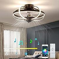 VOMI Plafondventilatorlamp met Verlichting Stille Dimbaar Afstandsbediening en APP Plafondventilatoren met Lamp met…