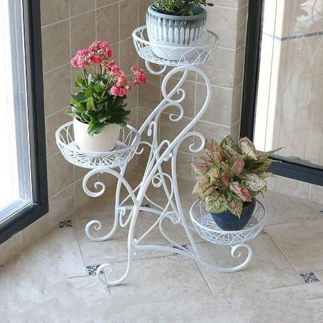 CXQ Marco Retro de Flores Europeo Salón de la Planta Bandeja de Flores  Estante de Tres 7d16c615185f