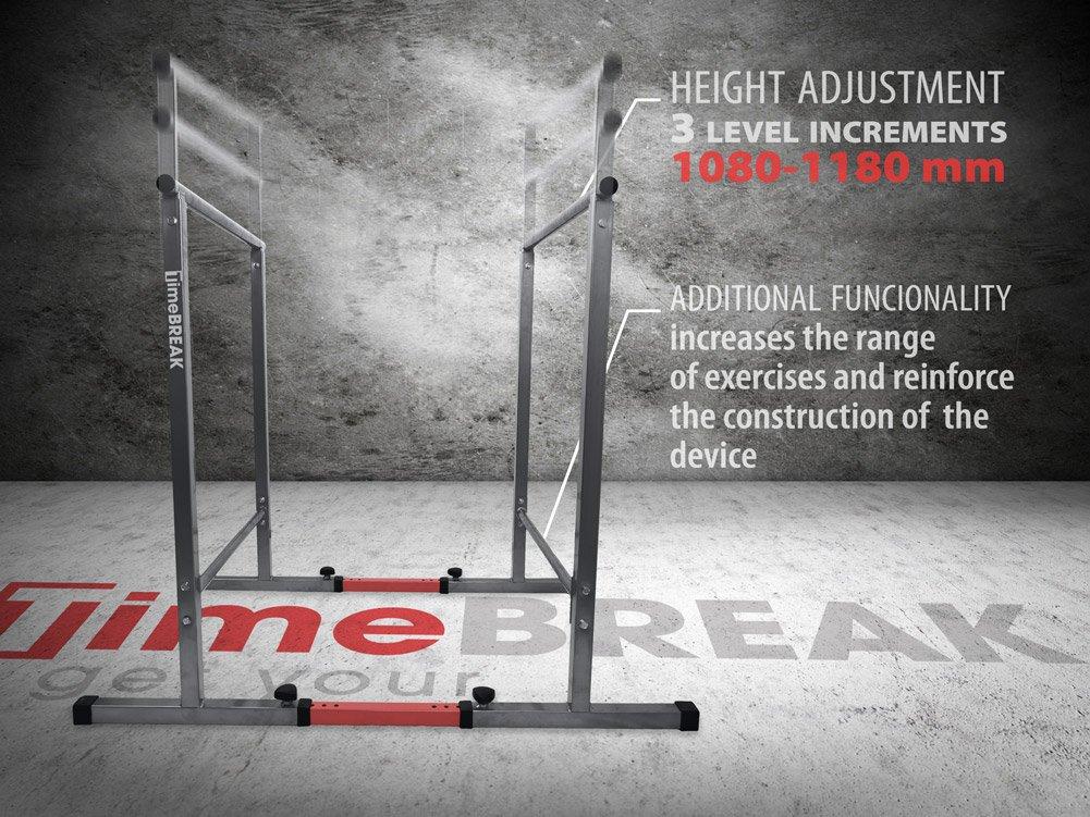 Fitness Barres parallèles 108cm avec base sécurisée, barres parallèles de callisthénie, gym K-SPORT