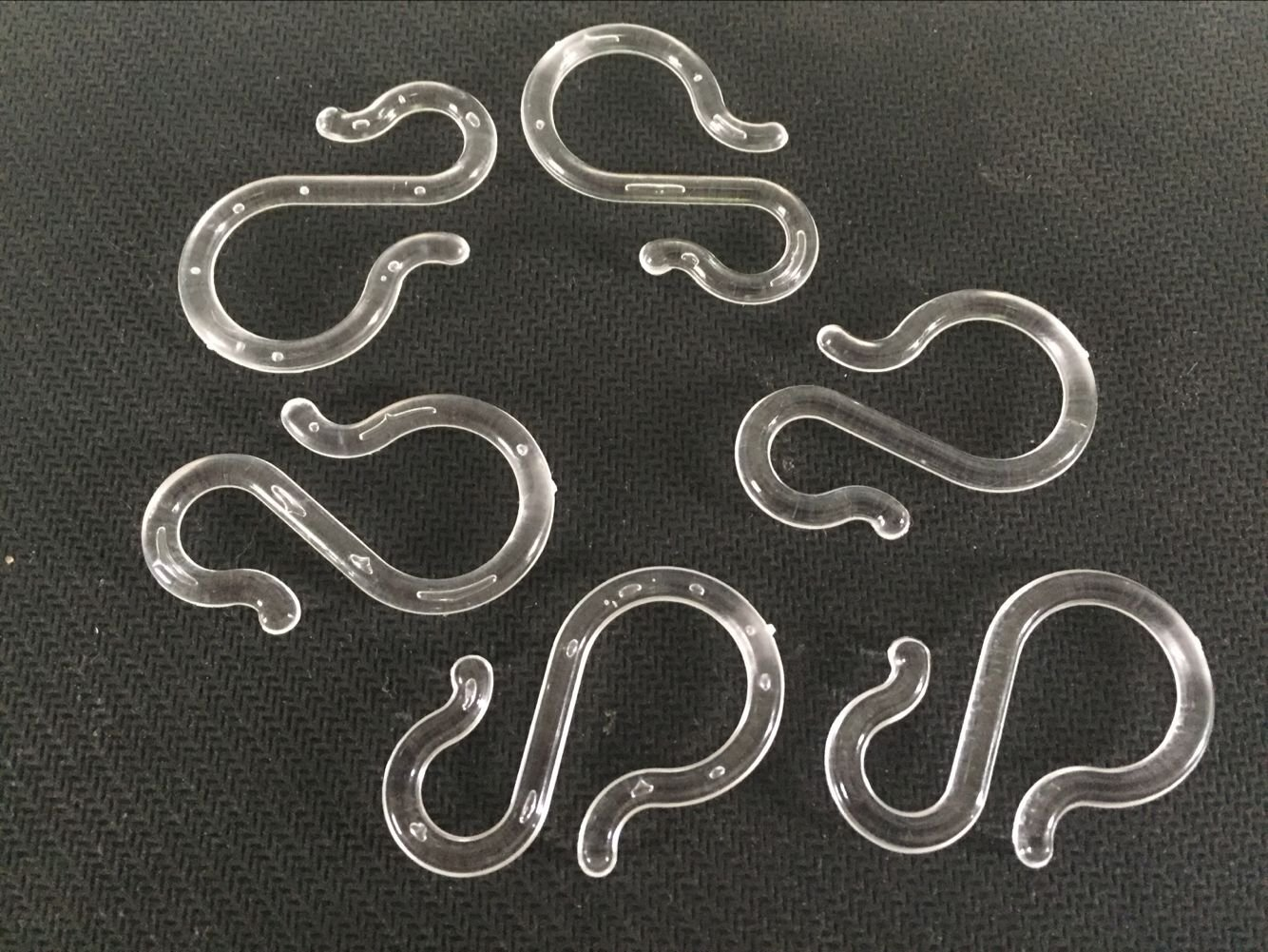 24 Clear Plastic Punch Bowl Cup S Hooks Hangers NEW 40mm NONE