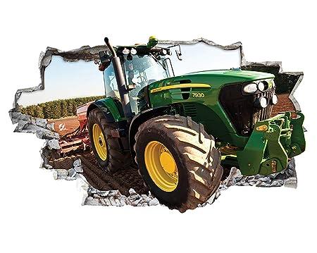 Tekkdesigns H053 Traktor Kinder Cool Jungen Kinderzimmer Wand