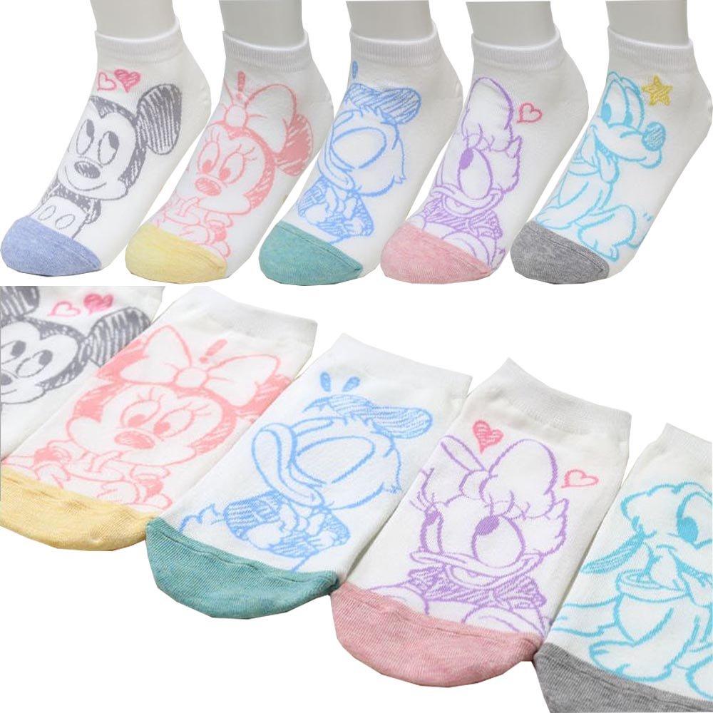 Girl's 5pk Low-Cut Socks Mickey Mouse Minnie Mouse Donald Duck Daisy Duck Pluto Disney Socks Gift