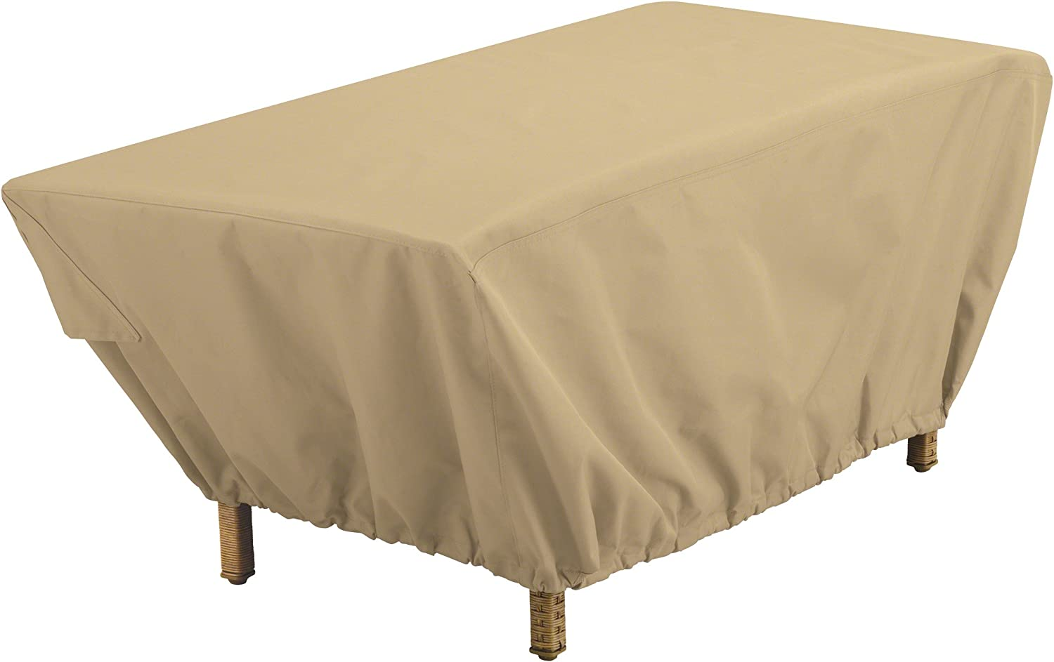 Classic Accessories Terrazzo Water-Resistant 48 Inch Rectangular Patio Coffee Table Cover