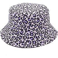 ANDERDM Bucket hat for Women & Men, Foldable Leopard Pineapple Print Fisherman Sun Cap, Double-Side-Wear Reversible…