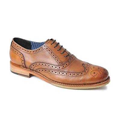 37d86bc9 CATESBY SHOEMAKERS Denny Mens Goodyear Welted Brogue Shoes Tan UK 12 ...