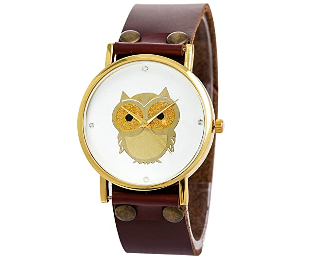 Owl watches cool watch vintage leather couple watch wristwatch Halloween