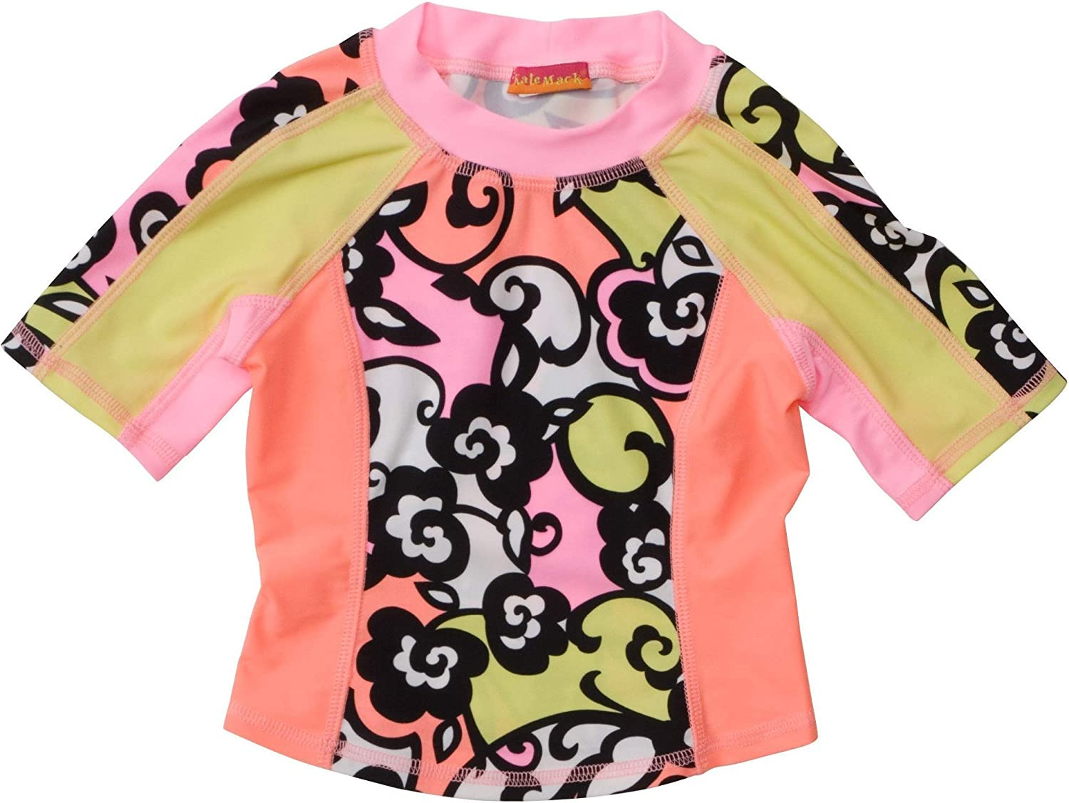 Kate Mack Girls Feelin Groovy 2-Piece Rashguard Surf Shirt and Bikini Bottom