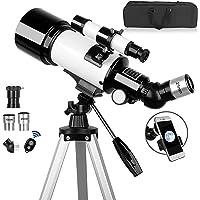 Telescope,70mm Aperture 500mm Telescope for Adults & Kids, Astronomical Refractor Telescopes AZ Mount Fully Multi-Coated…