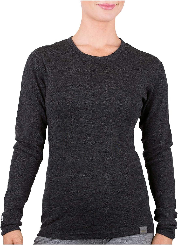 MERIWOOL Womens Base Layer 100% Merino Wool Midweight Long Sleeve Thermal Shirt