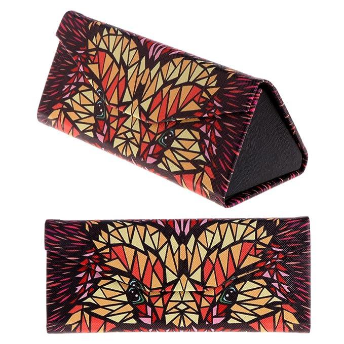 Amazon.com: amrka triángulo plegable funda de anteojos ...