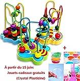 Jeu d'imitation,Covermason Enfants enfants chaud bébé coloré Mini en bois autour de perles jouet jeu éducatif