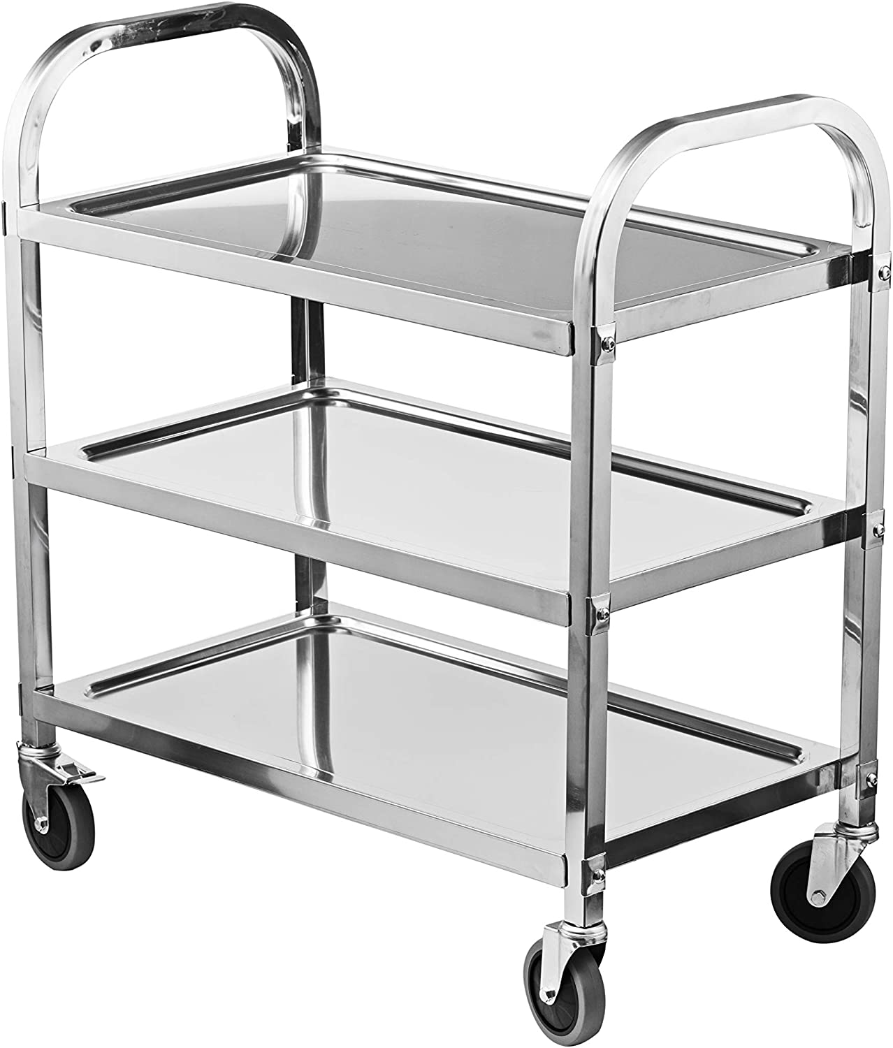 Hotels Restaurants Bamboo Kitchen Trolley with Wheels 3 Tier Storage Trolley Vintage Serving Cart Trolley Catering Trolley Beauty Salon Cart Storage/Rolling Trolley Storage Organiser for Kitchen