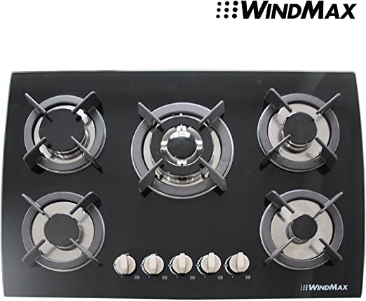 30 Brand New Black Tempered Glass Built-in Kitchen 5 Gas Burner CookTop !! NEW ARRIVAL !!