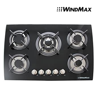 Amazoncom 30 Tempered Glass Built in Kitchen 5 Burner Oven Gas
