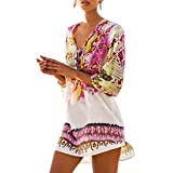 FORTULY Womens Cover up Bohemia Tassel Swimsuit Beachwear Kimono Bikini Dress Boho Style