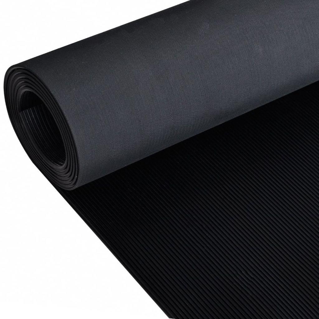 vidaXL Anti-Slip Rubber Safety Floor Mats Fine Ribbed Door Rug Home Carpet 16' x 3'